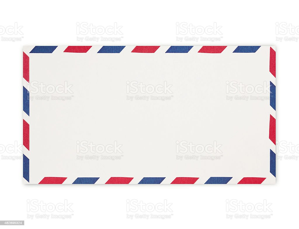 Air Mail Envelope (with path) stock photo