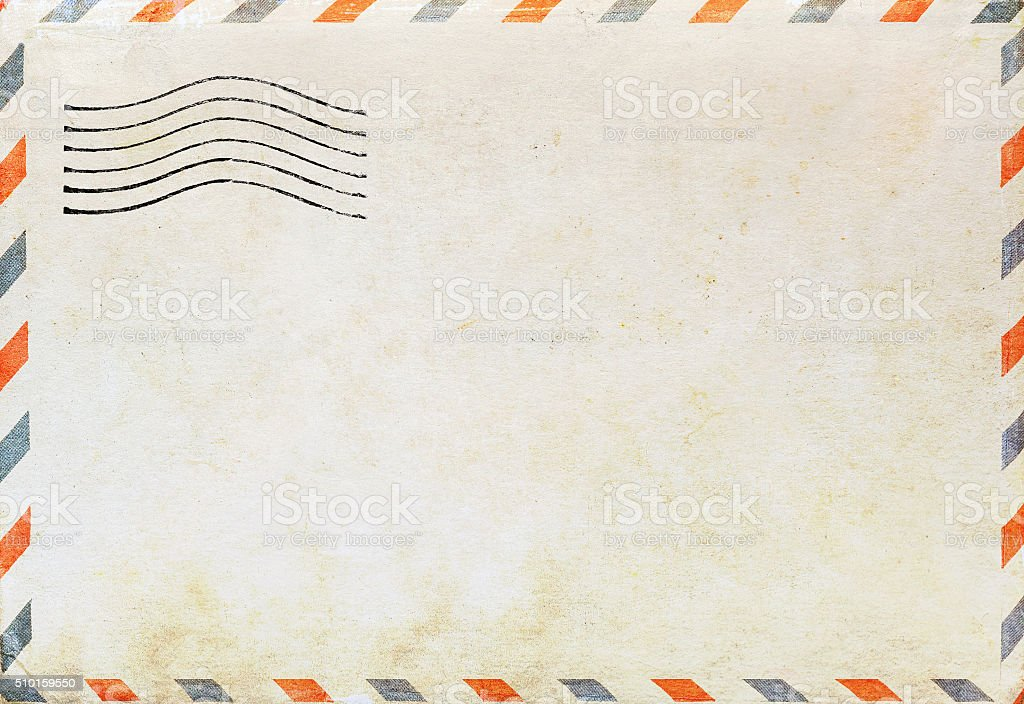 Air mail envelope stock photo