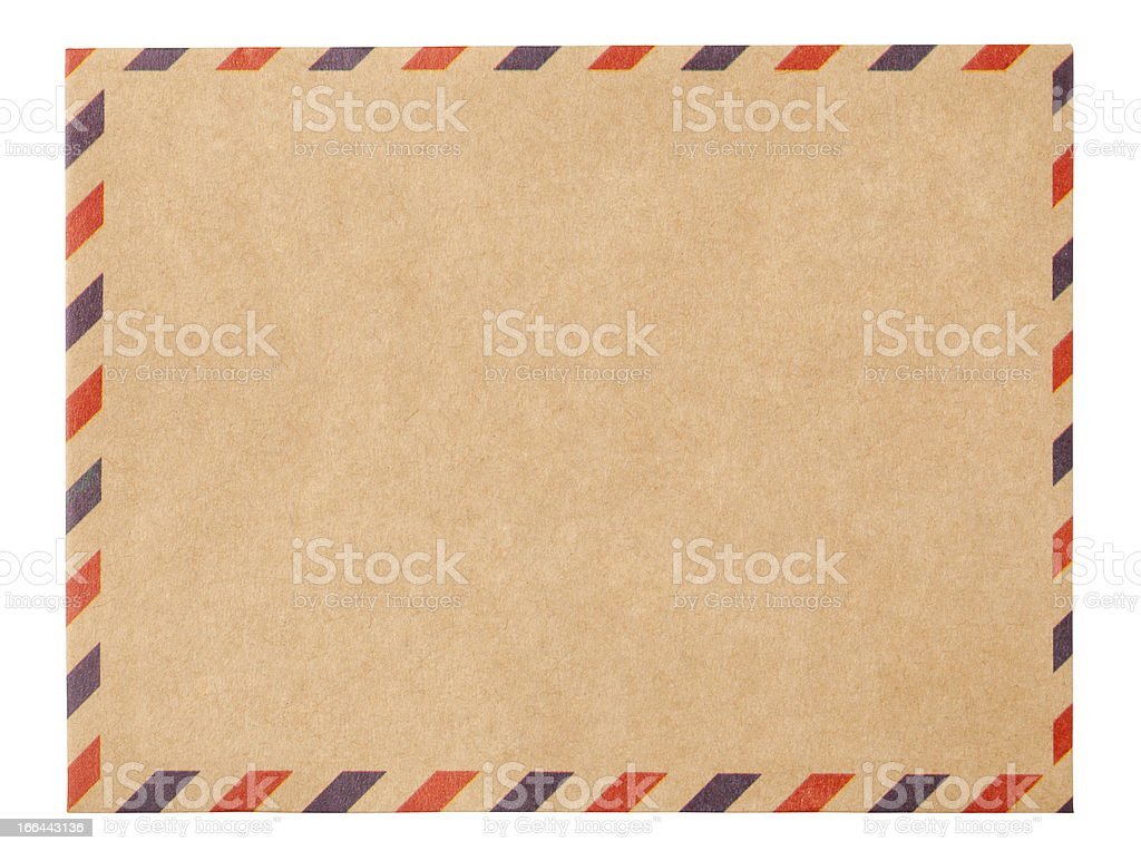 Air mail Envelope with clipping path stock photo