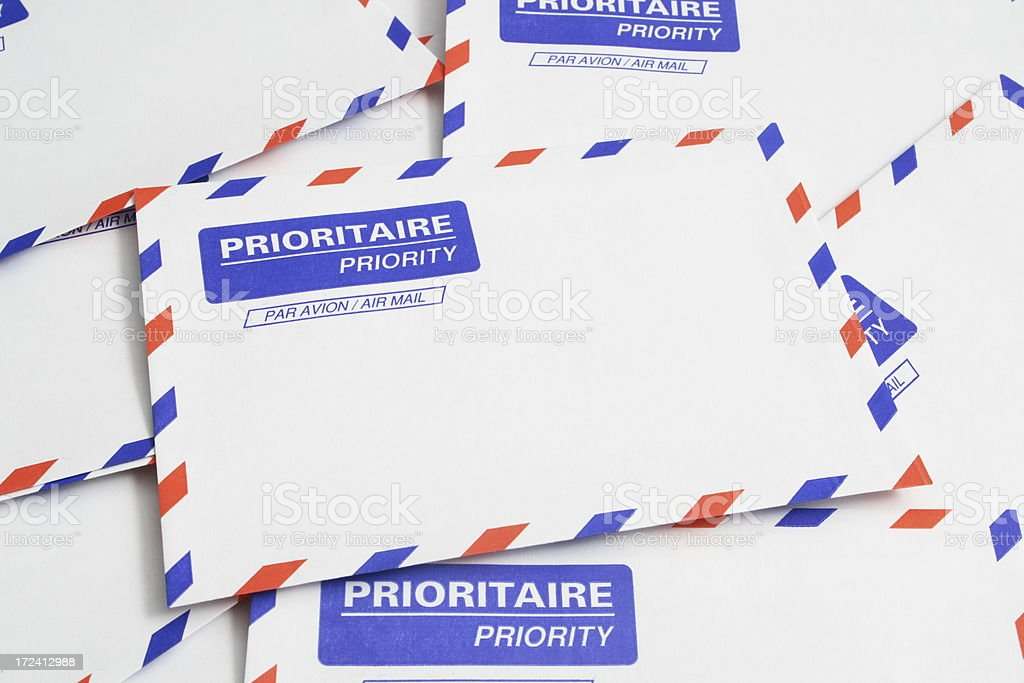 Air Mail Envelopes royalty-free stock photo