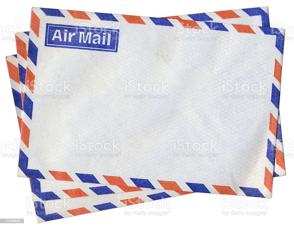 Air mail envelopes royalty-free stock photo