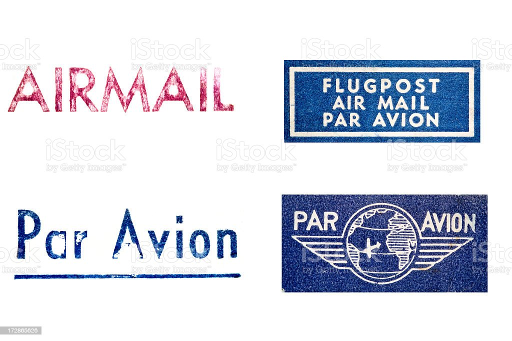 Air Mail Labels III royalty-free stock photo
