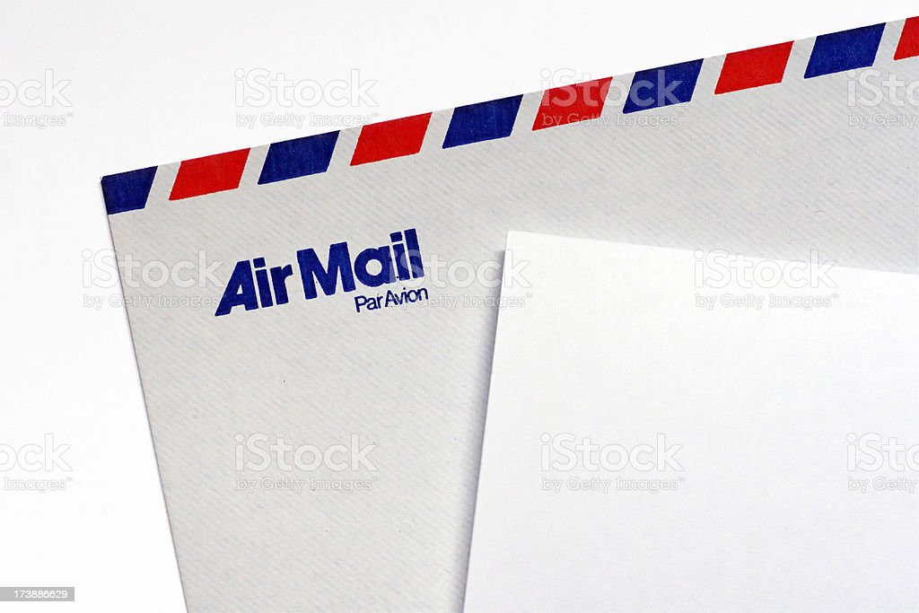 Air mail letter royalty-free stock photo