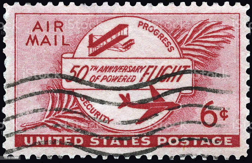U.S. Air Mail royalty-free stock photo