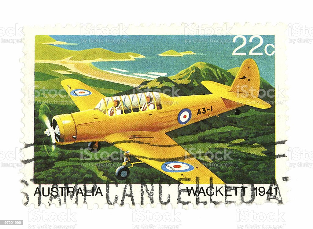 Air mail post stamp stock photo