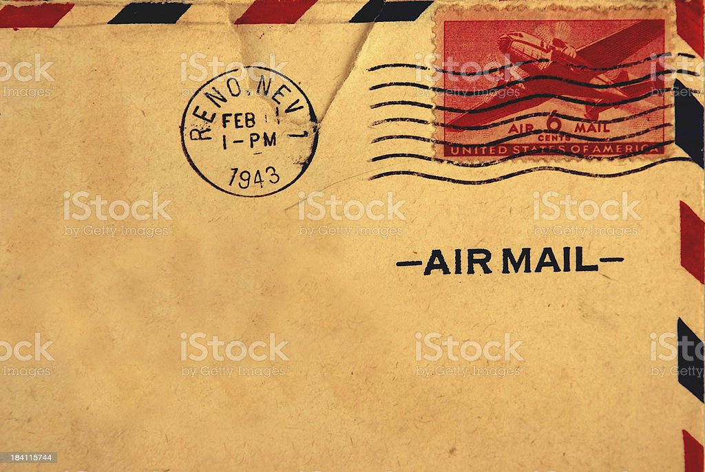 Air Mailed Letter, Circa WWII stock photo