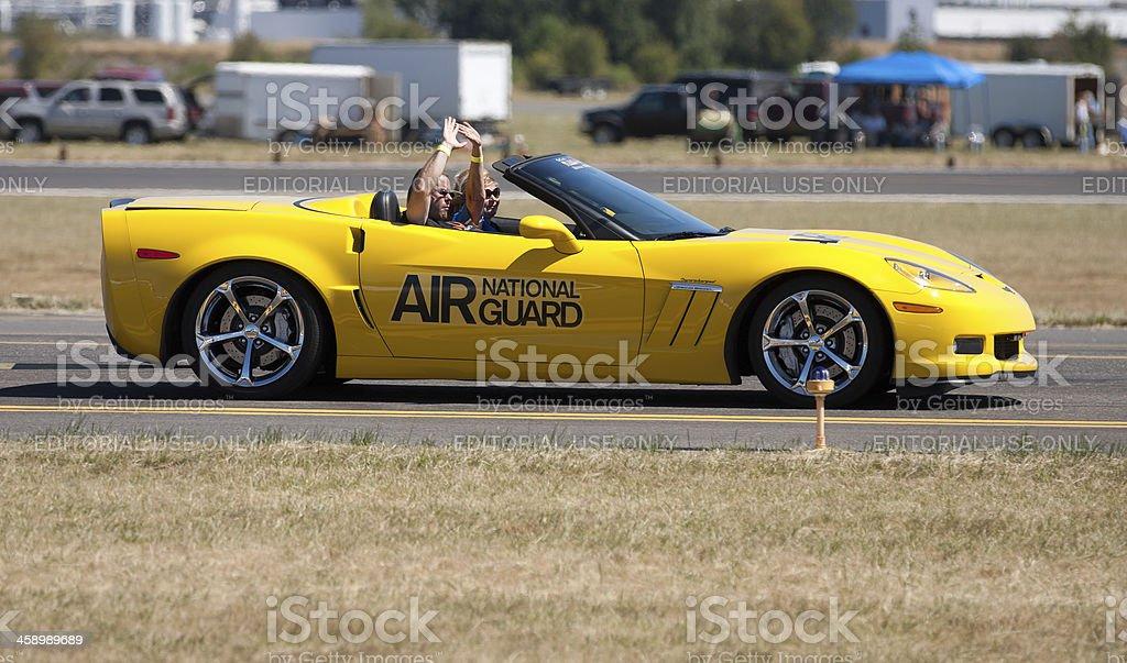 Air National Guard Corvette stock photo