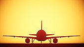 air plane silhouette light
