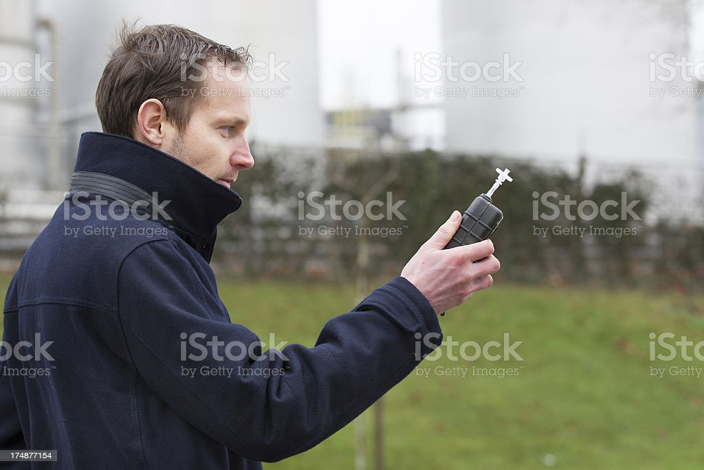 Air pollution, Carbon Dioxide royalty-free stock photo