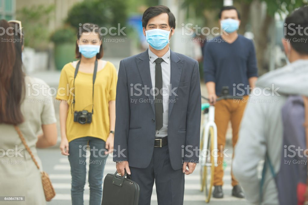 Air pollution concept stock photo