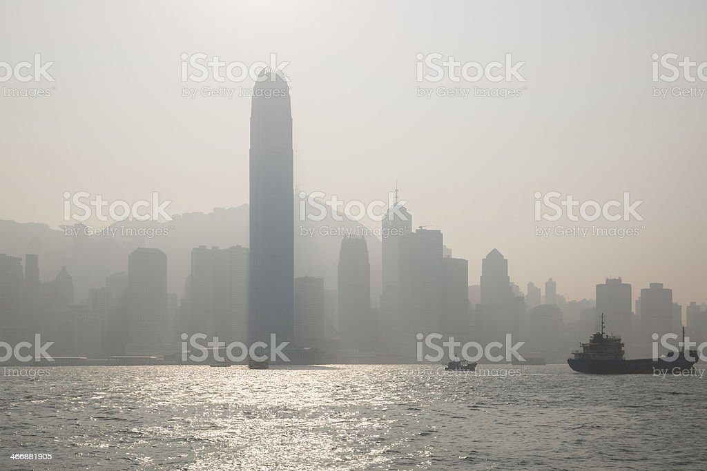 Air Pollution in China royalty-free stock photo