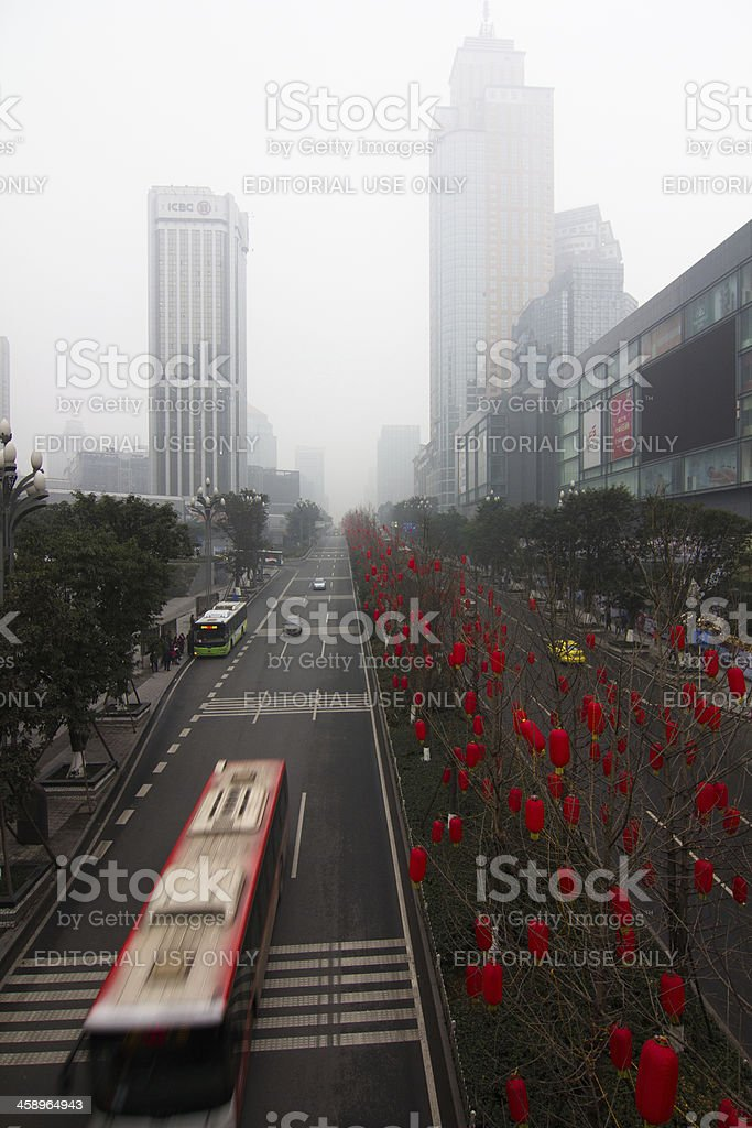 Air Pollution in city royalty-free stock photo