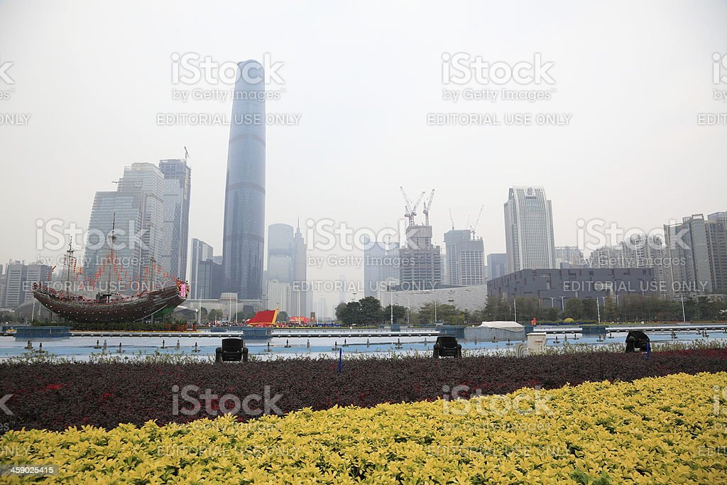 Air Pollution in Guangzhou royalty-free stock photo