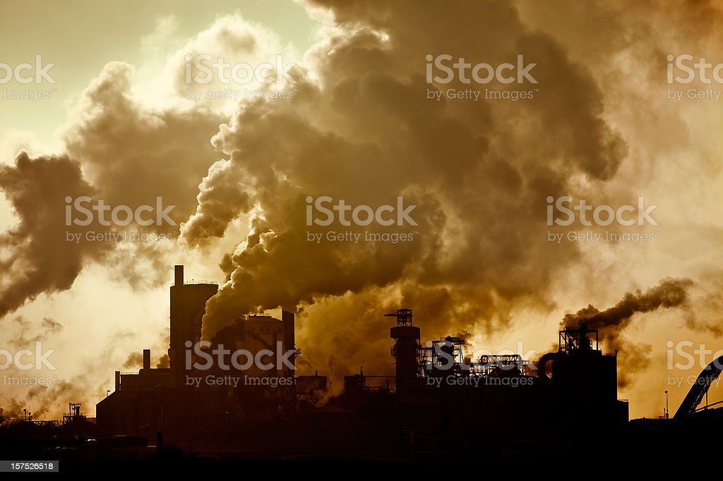 Air Pollution in the Sky stock photo