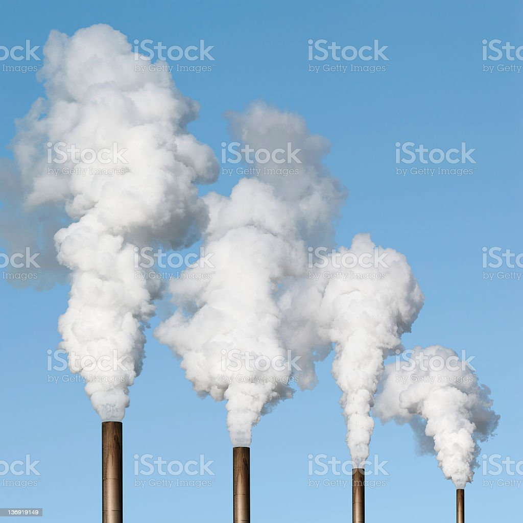XXXL air pollution stock photo