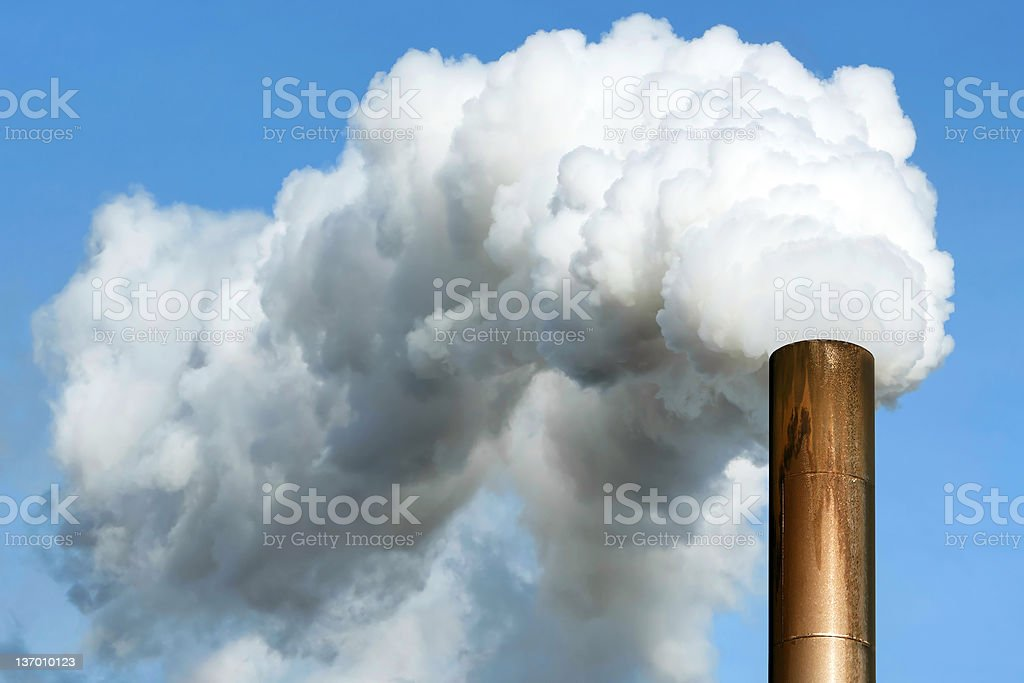 XL air pollution royalty-free stock photo