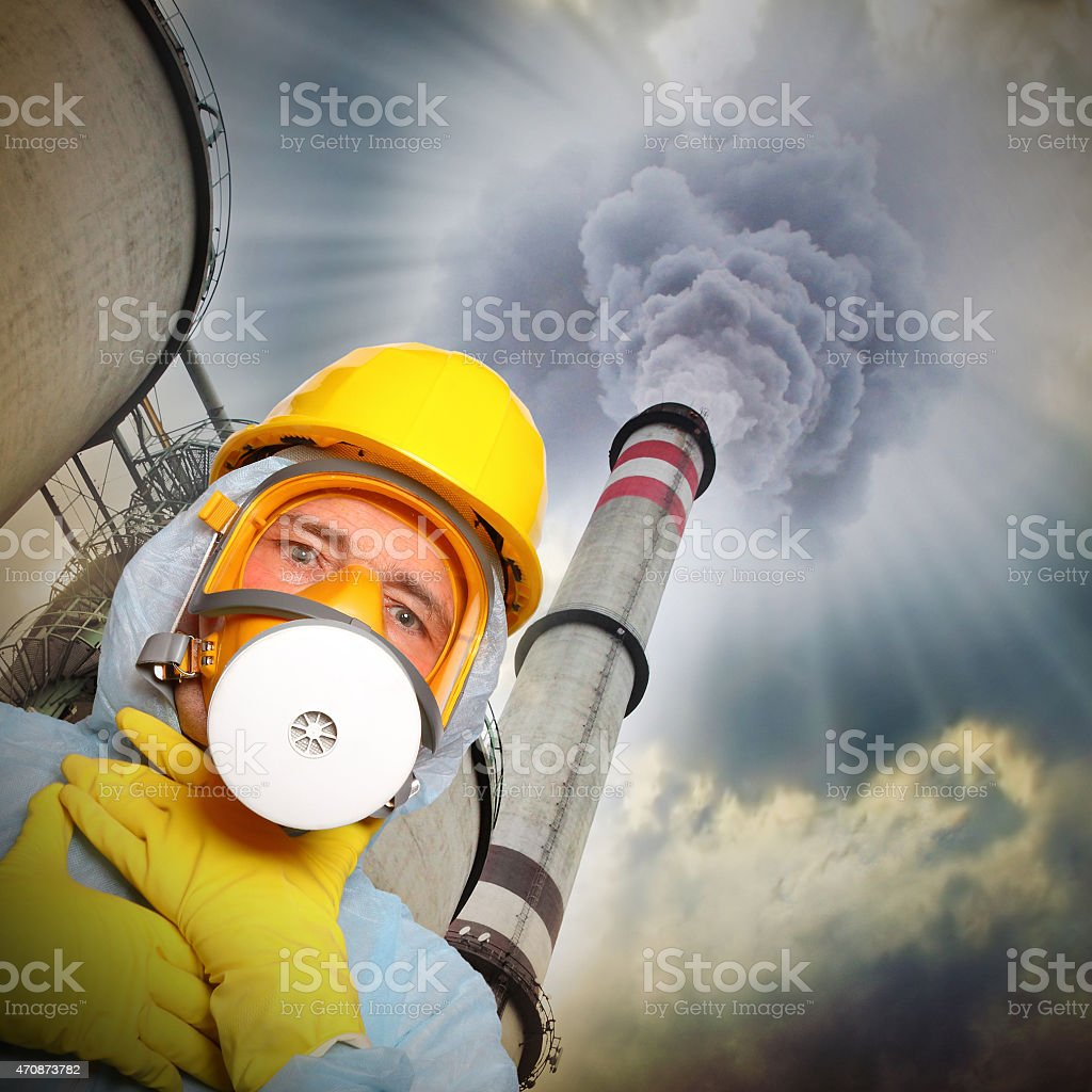 Air pollution. stock photo