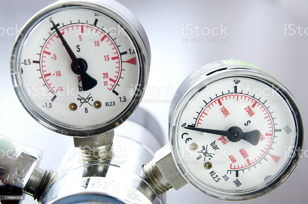 Air Pressure Scale royalty-free stock photo