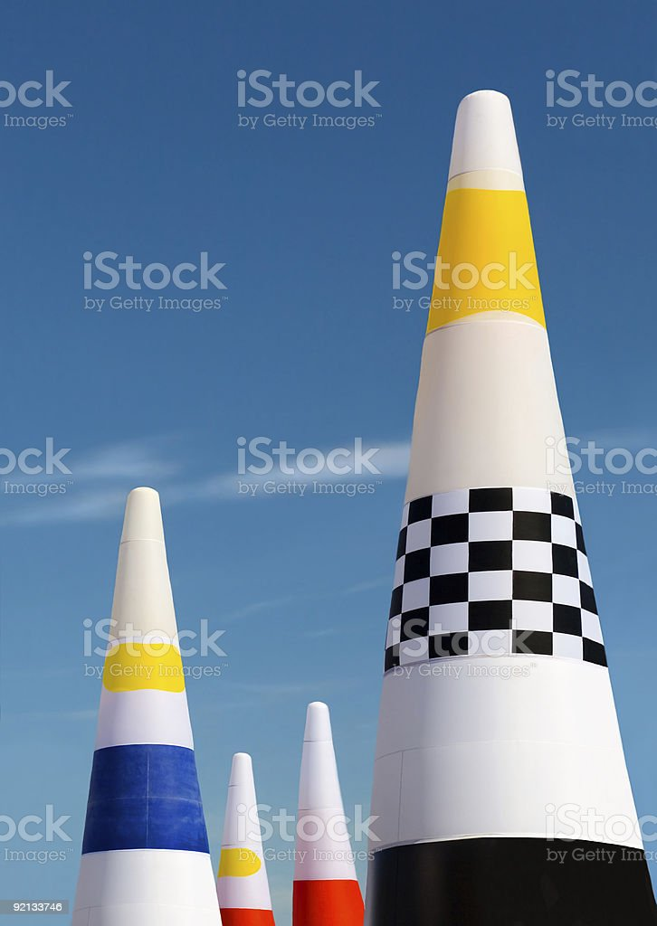 Air race gates royalty-free stock photo