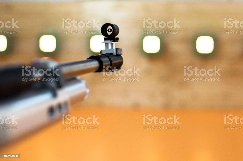air rifle stock photo