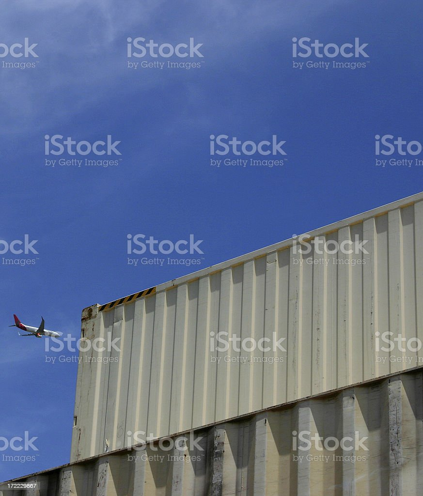 air, road, freight royalty-free stock photo