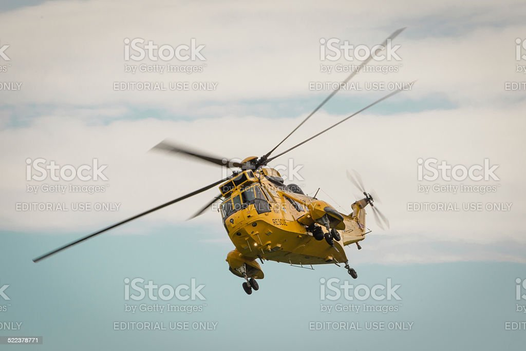 RAF Air Sea rescue helicopter stock photo