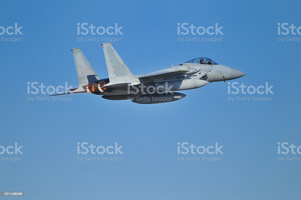 Air Self-Defense Force of Eagle fighter stock photo
