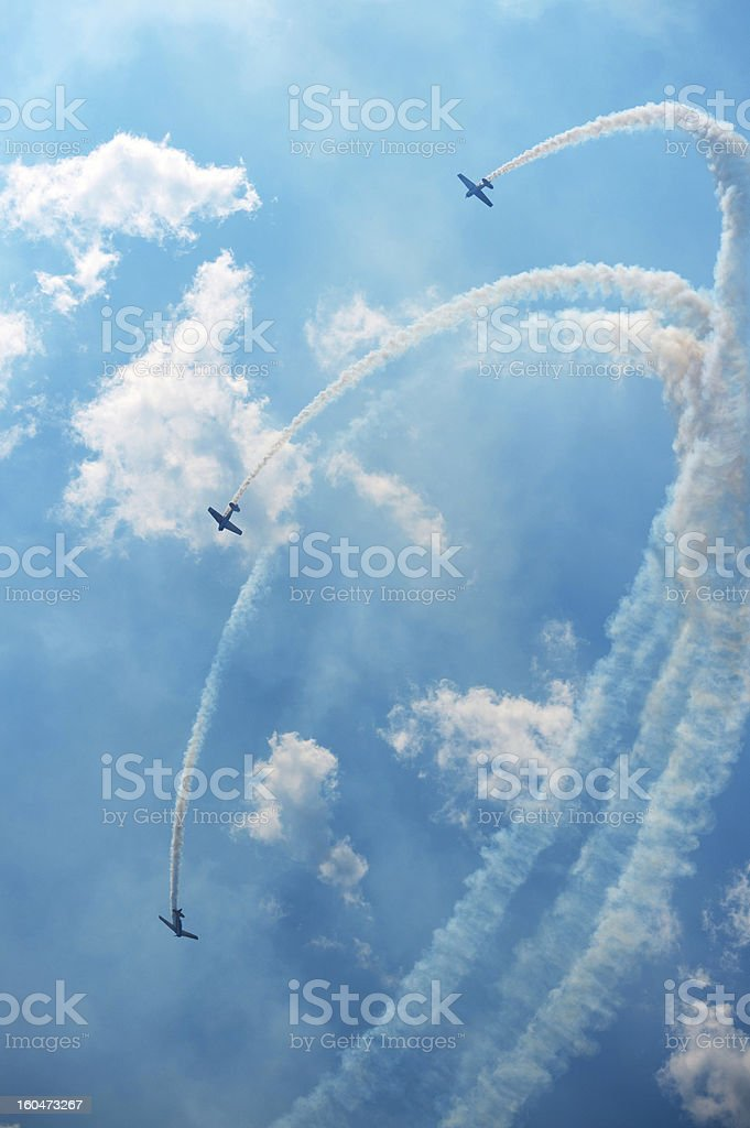 Air Show Acrobatics royalty-free stock photo
