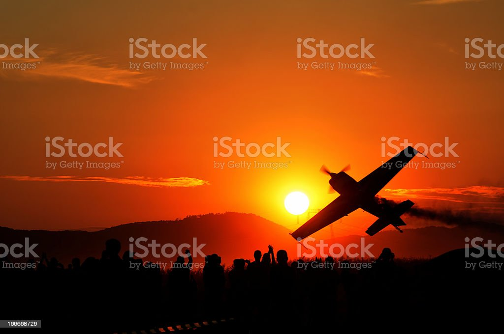 Air Show at down royalty-free stock photo