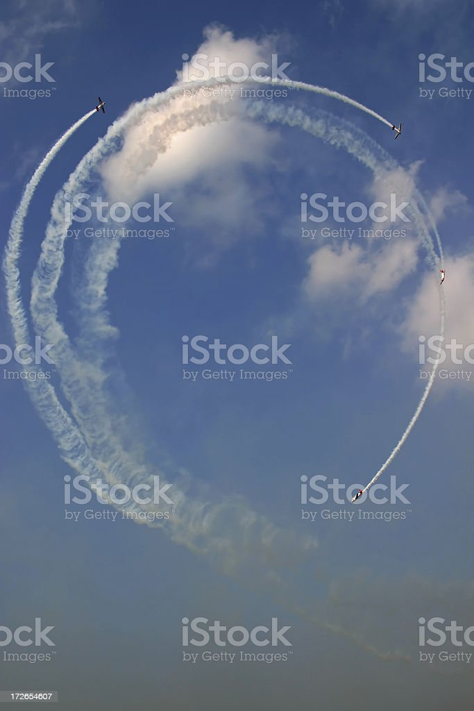 Air Show - Team Acrobatics royalty-free stock photo