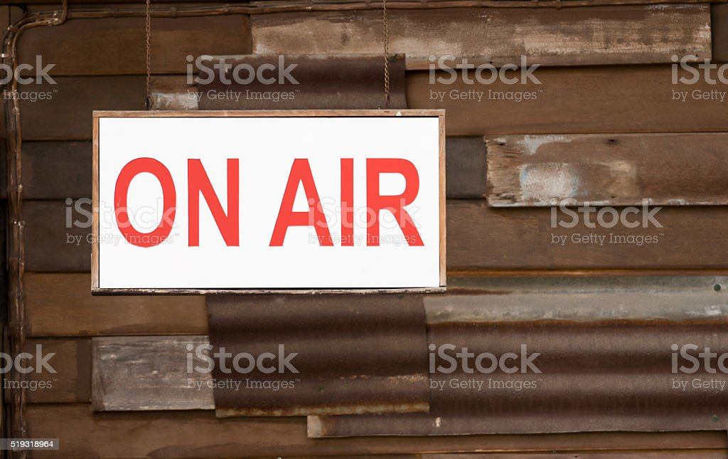 ON Air Sign hanging stock photo