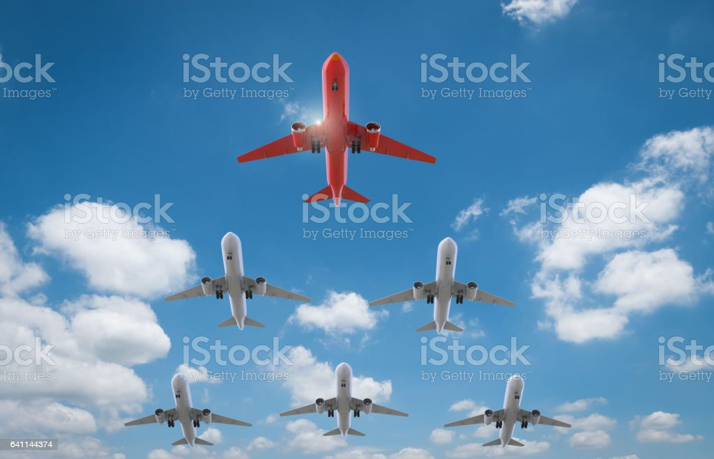 air squadron with leader stock photo