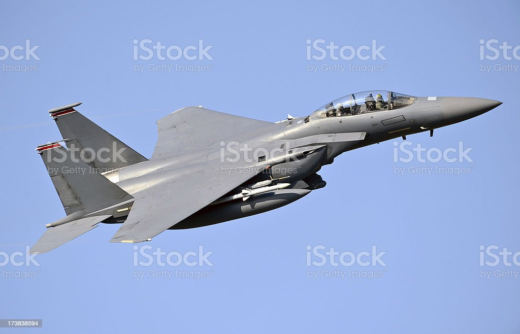 Air Superiority Strike Aircraft royalty-free stock photo