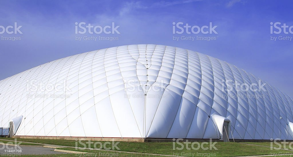 Air Supported Dome Building royalty-free stock photo