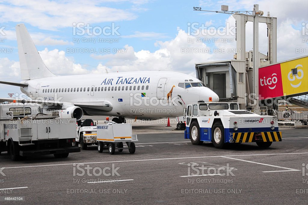 Air Tanzania aircraft stock photo
