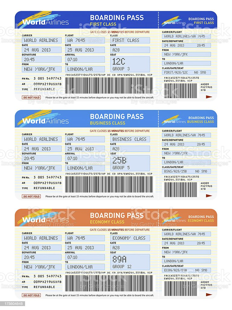 Air tickets stock photo