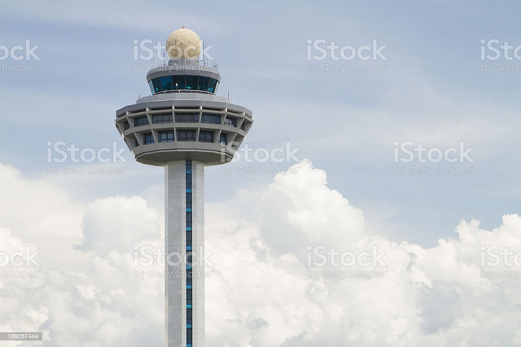 Air Traffic Control in Open Sky stock photo