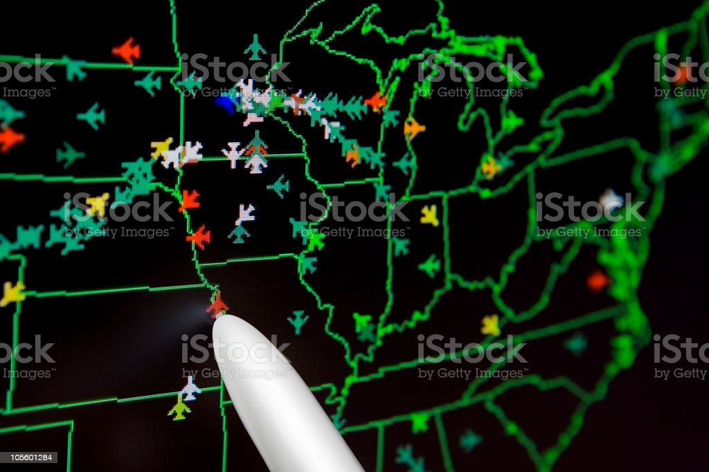Air Traffic Control Monitor royalty-free stock photo
