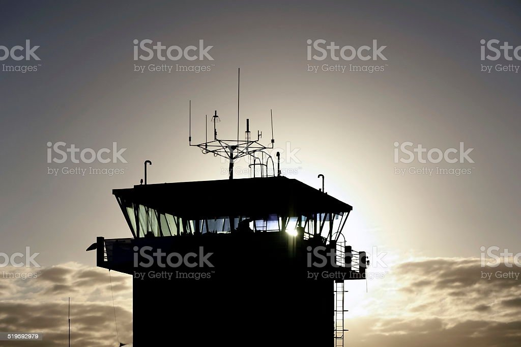 Air traffic control stock photo