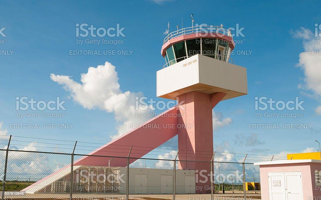 Air Traffic Control Tower Bonaire stock photo