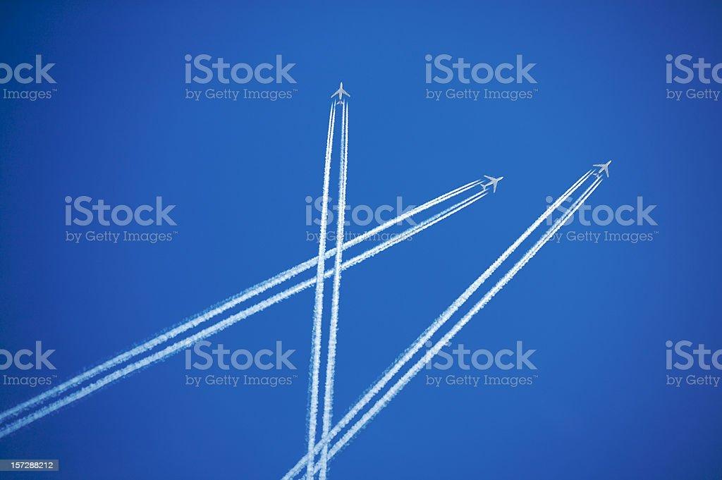 Air traffic stock photo