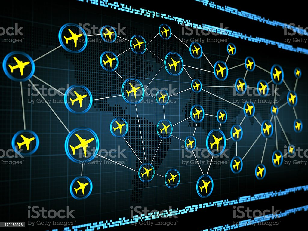 Air traffic royalty-free stock photo