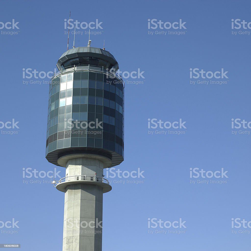 Air traffic tower stock photo