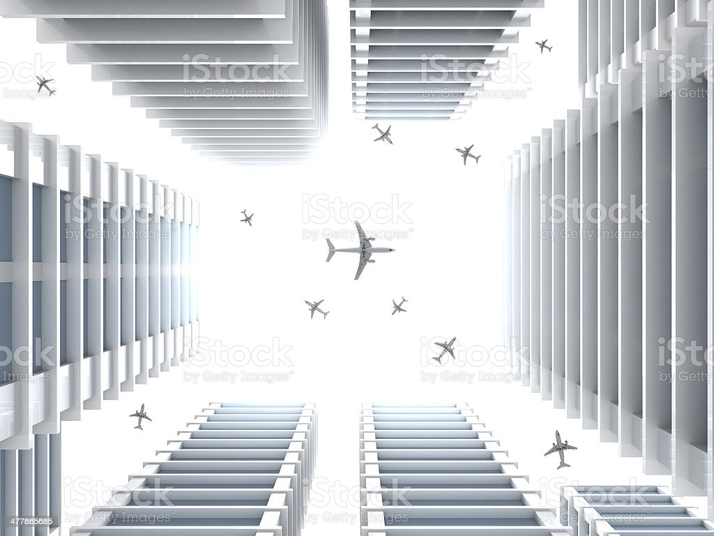 Air Transportation royalty-free stock photo