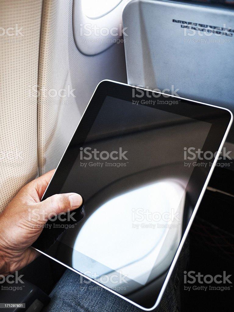 Air travel computing stock photo