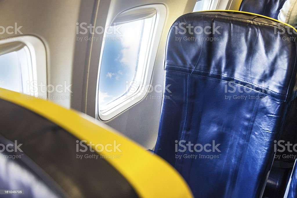 Air travel, empty window seat royalty-free stock photo