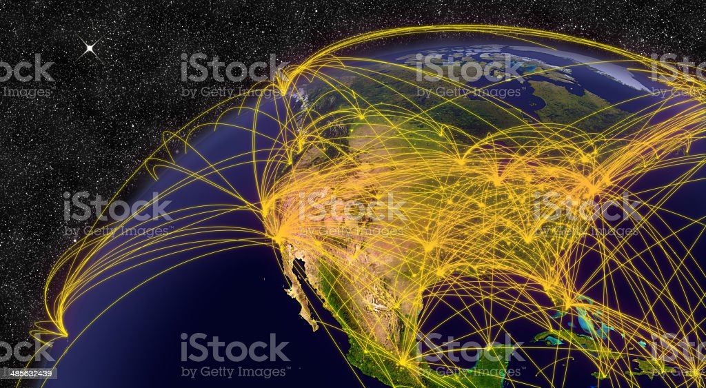 Air travel in North America stock photo