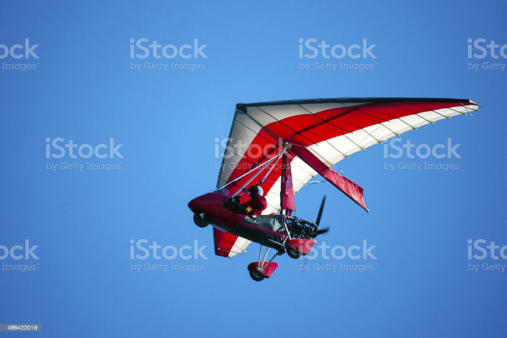 Air trike in the sky stock photo