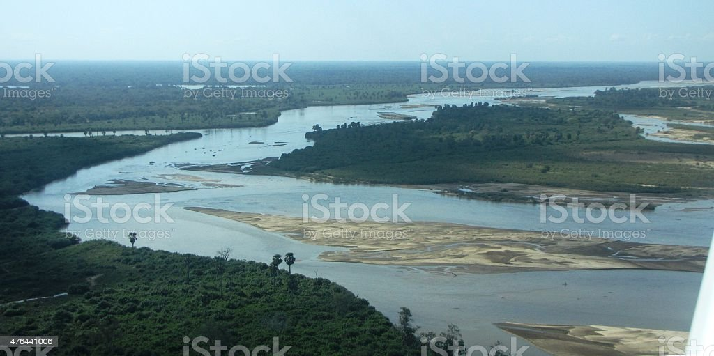 air view on Lake Manze stock photo