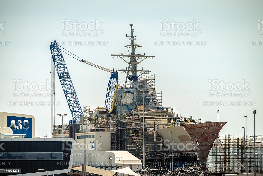 ASC air warfare destroyer stock photo